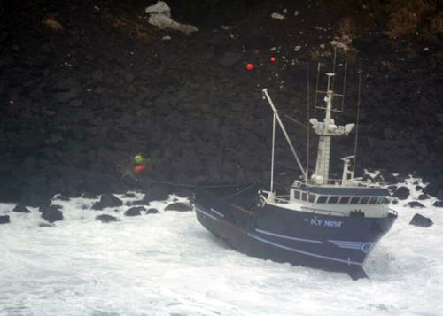 Fishing Vessel Icy Mist February 25, 2009 - U S Coast Guard photo Marine Safety Detachment Kodiak