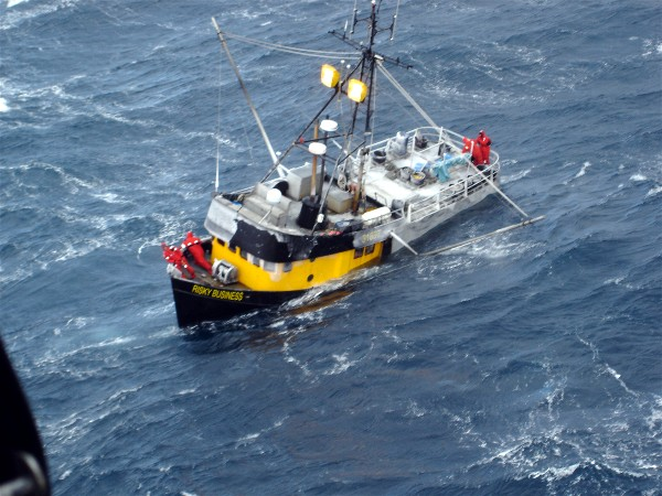 F/V Risky Business March 13, 2007 U S Coast Guard photo by Cmdr. Shawn Tripp