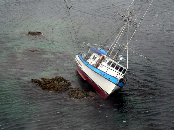 Fishing Vessel Sea Bear stranded April 26, 2007 U S Coast Guard Sitka photo